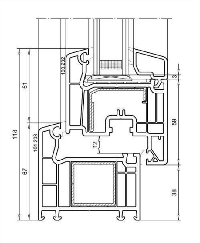 Veka-Softline-70-Querschnitt