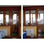 Fenster und Balkontür von innen